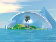 Desktop Wallpapers » 3D Backgrounds » 3D Coconut Tree » www ...