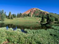 Alpine Tarn and Mount Belleview, Paradise Divide, Colorado