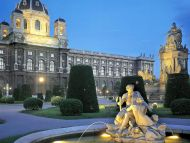 Austrian Garden at Twilight, Vienna