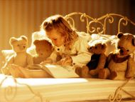 Baby Girl with Teddys