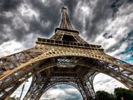 Beneath the Eiffel Tower, Paris, France