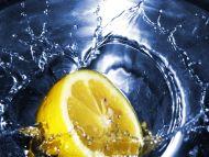 Big Yellow Lemon in Blue Water