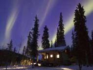 Cabin Glow, Alaska