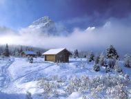 Cabins at Mt. Assiniboine Lodge, British Columbia