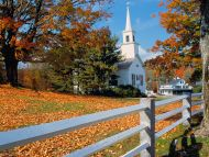 Church in Fall Splendor, New England