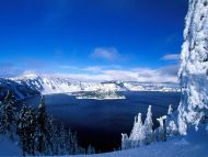 desktop wallpapers » natural backgrounds » crater lake in winter