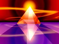 Desktop Wallpapers 3D Backgrounds Crystal Sun Pyramid