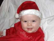 Cute Baby Dressed as Santa Claus