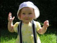Cute Baby Girl in the Garden