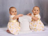 Cute Twins Baby Girls