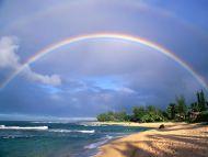 double rainbow over kauai hawaii