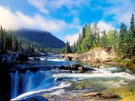Elbow River and Falls, Kananaskis Country, Alberta, Canada