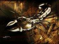 Desktop Wallpapers 3D Backgrounds Fire Scorpion