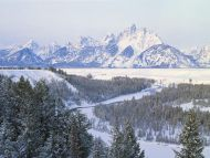 First Snowfall, Snake River, Wyoming