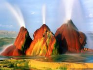 Fly Geyser, Timed Exposure, Black Rock Desert, Nevada