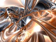 Desktop wallpapers 3d backgrounds gold and silver for Gold 3d wallpaper