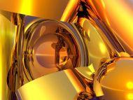Desktop Wallpapers 3D Backgrounds Gold Objects Www