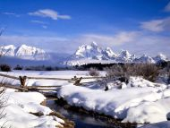 Grand Tetons in Winter, Wyoming