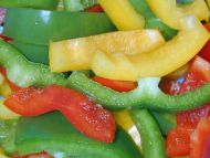 Green Yellow Red Peppers