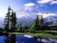 desktop wallpapers » natural backgrounds » hidden lake in mount