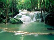 Kao Pun Temple Waterfalls, Kanchanaburi Region, Thailand