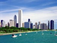 Lake Michigan and the Chicago Skyline, Illinois