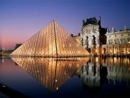 Louvre Aglow, Paris, France