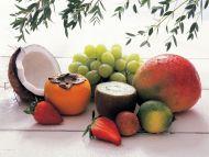 Mango and Green Grapes