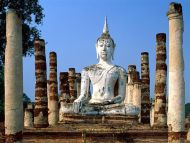 Meditation is Key, Wat Mahathat, Sukhothai, Thailand