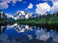Mount Shuksan Mirrored on Picture Lake, Washington
