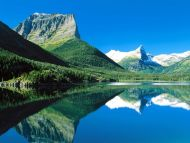 Mountains Mirrored, St Mary Lake, Glacier National Park, Montana