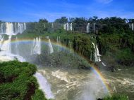 Multiple Waterfall and Rainbow