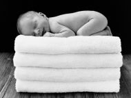 New Born Baby on Towel