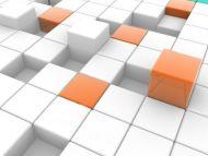 Orange Cube Boxes