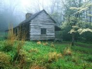 Peaceful Morning, Noah Bud Ogles Place, Smoky Mtns, Tennessee