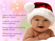 desktop wallpapers » babies backgrounds » realy sweet baby in santa