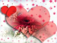 Desktop wallpapers other backgrounds red hearts with flowers red hearts with flowers izmirmasajfo Choice Image
