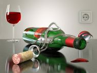 Red Wine in Green Bottle
