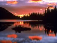 Reflection Lake at Sunrise, Mount Rainier National Park, Washington