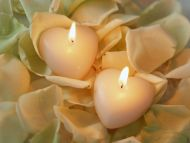Romantic Sweet Heart Candles