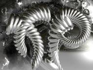 Desktop wallpapers 3d backgrounds silver 3d object for Silver 3d wallpaper