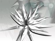 Desktop wallpapers 3d backgrounds silver flower www for Silver 3d wallpaper