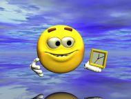 ... wallpapers 3d digital art backgrounds smiley clock smiley clock: hiren.info/desktop-wallpapers/3d-digital-art-pictures/smiley-clock
