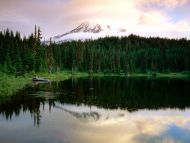 Sunrise at Reflection Lake, Mount Rainier, Washington
