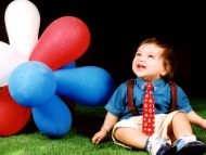 Sweet Baby Boy with Balloons