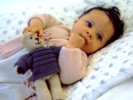 Sweet Baby Plays with Teddy