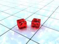 Two Dices on the Floor
