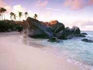 Virgin Gorda Island at Sunset, British Virgin Islands, West Indies